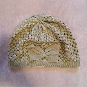 Call It Spring Light Brown Cute Bow Knit Toque Hat